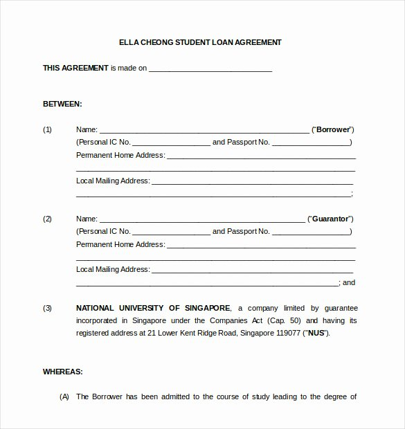 Personal Loan form Template Best Of 19 Loan Agreement Templates – Free Word Pdf format