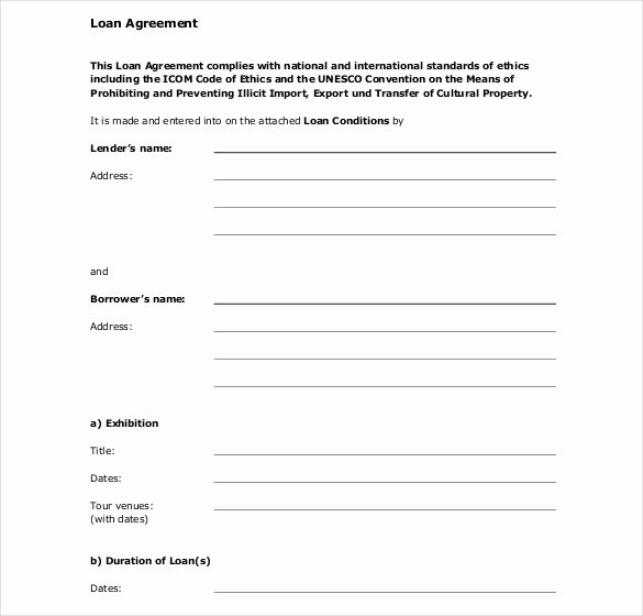 Personal Loan form Template Luxury 30 Loan Contract Templates – Pages Word Docs