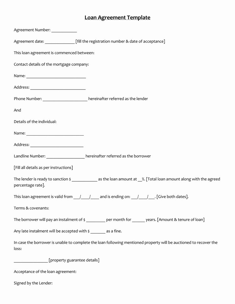Personal Loan form Template Unique 45 Loan Agreement Templates & Samples Write Perfect