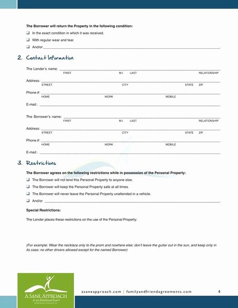 Personal Loan forms Template Elegant Printable Sample Personal Loan Agreement form