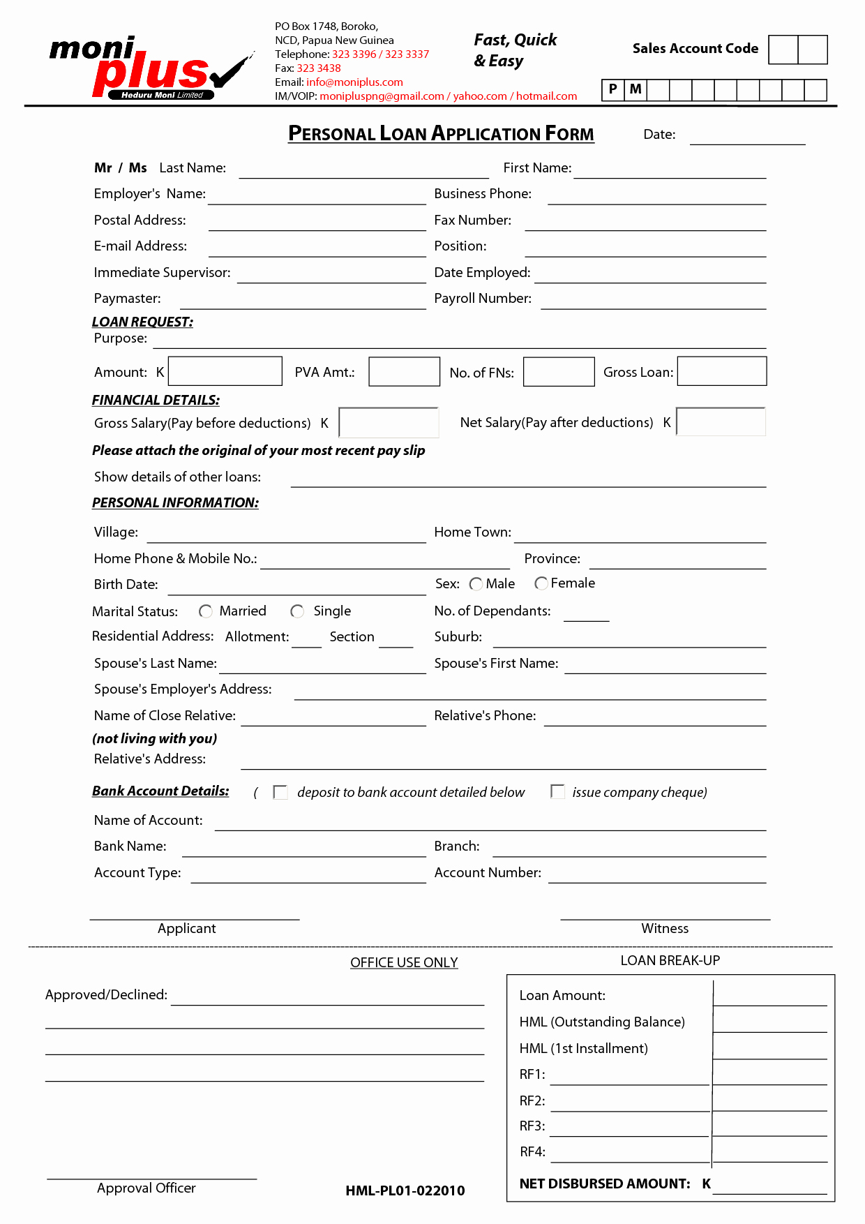Personal Loan forms Template Fresh Free Printable Personal Loan Contract form Generic