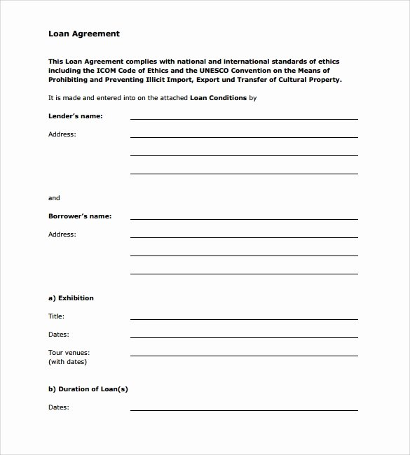 Personal Loan forms Template Unique Sample Loan Agreement 12 Free Documents Download In Pdf