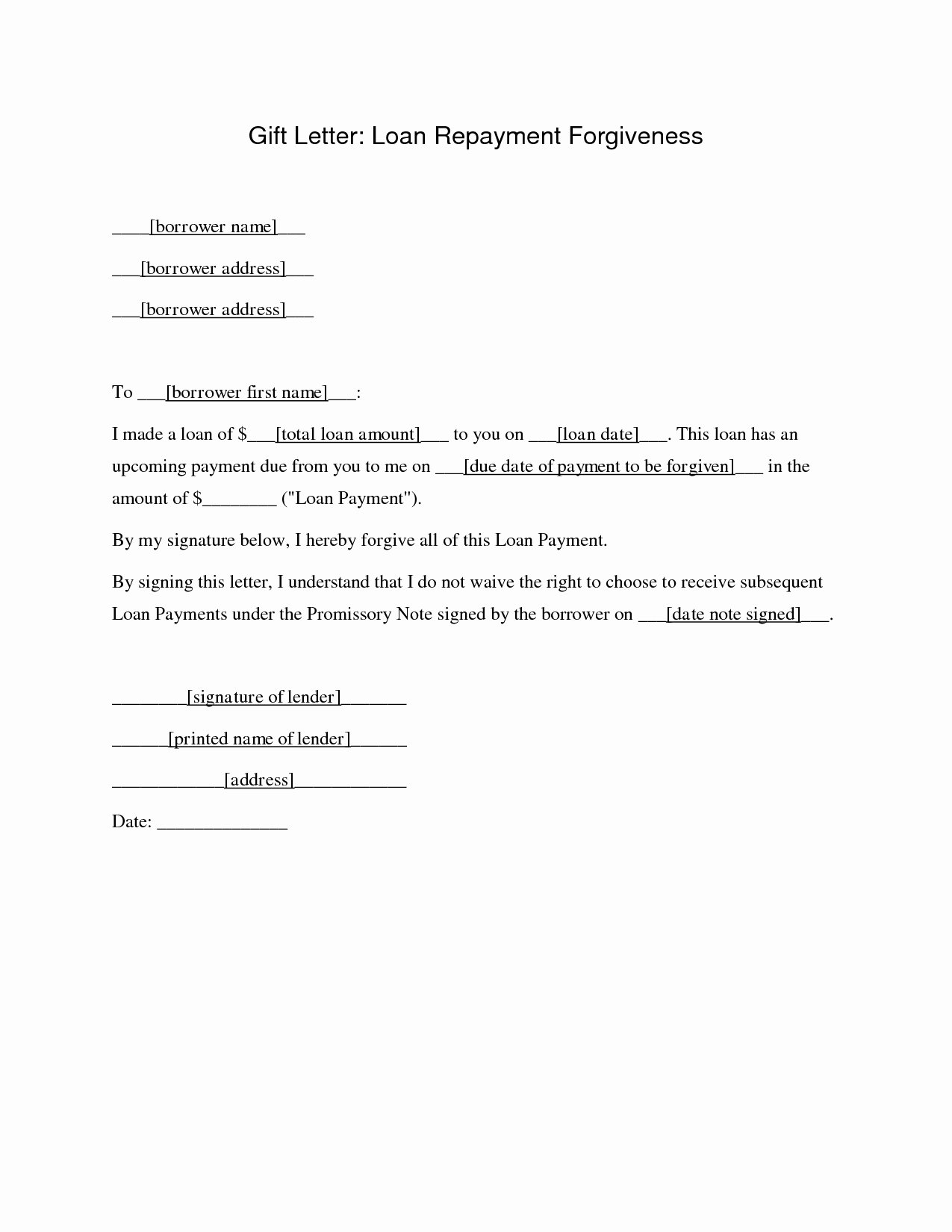 Personal Loan Letter format Elegant Personal Loan Repayment Letter Template Examples