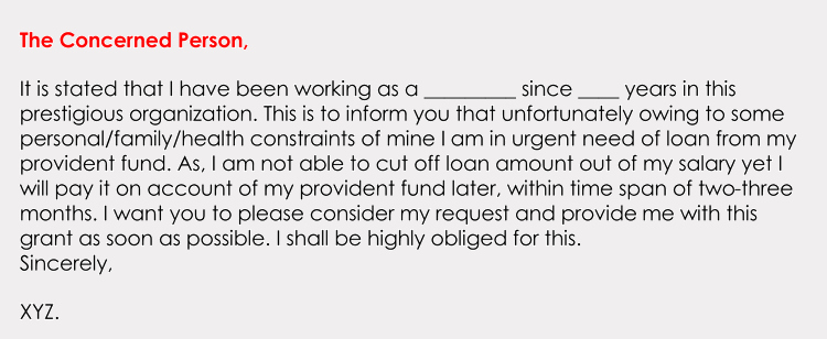 Personal Loan Letter format Inspirational formatting A Loan Application Letter with Sample Letters