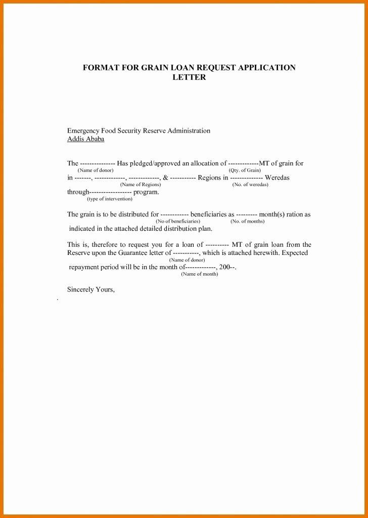 Personal Loan Letter format New Personal Loan format