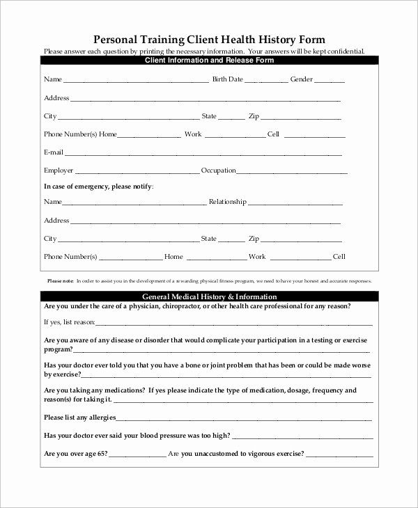 Personal Medical History form Template Awesome Sample Medical History form 10 Examples In Word Pdf