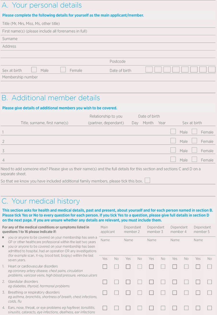 Personal Medical History form Template Beautiful General Medical History forms Free [word Pdf]