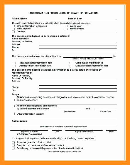 Personal Medical History form Template Fresh 12 13 Personal Health Records Template