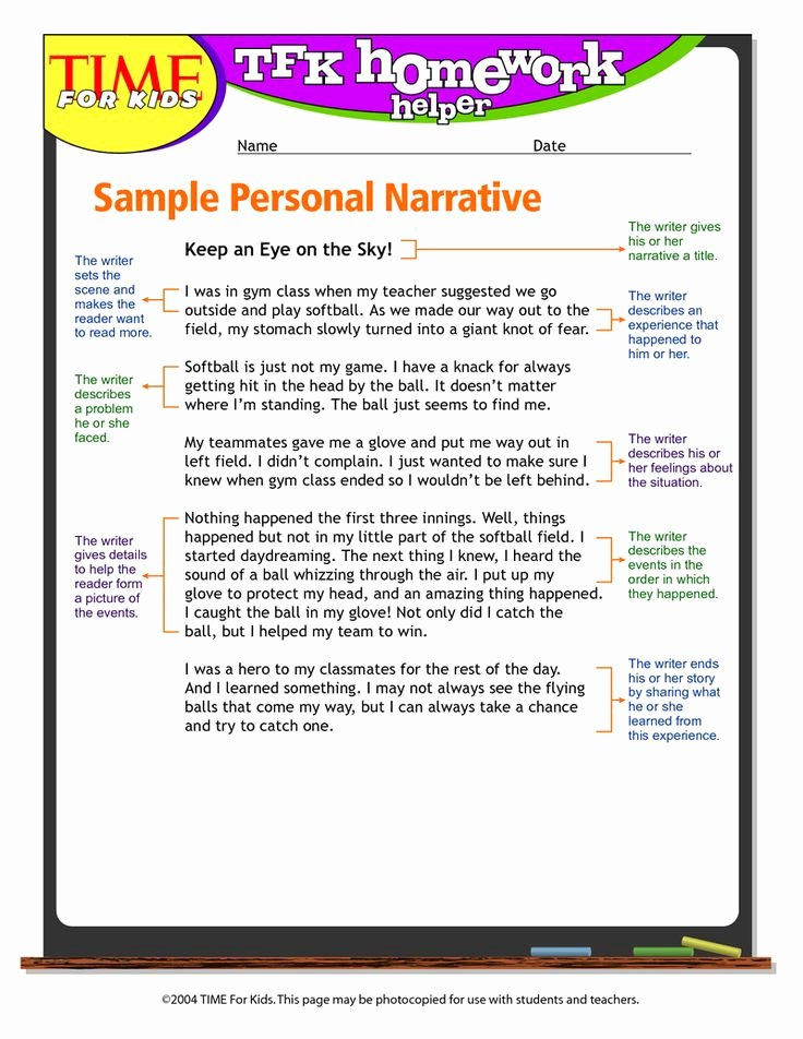 Personal Narrative Examples College Best Of Personal Narrative Example
