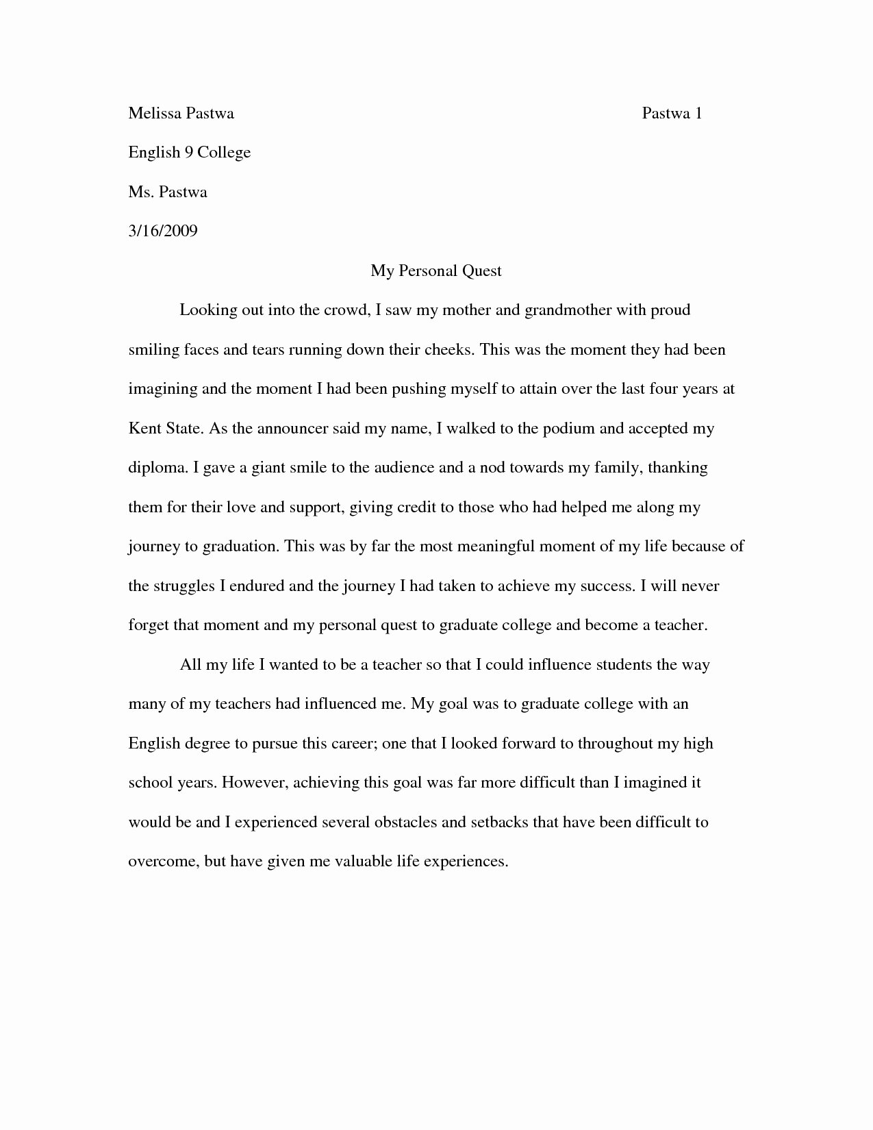 Personal Narrative Examples College Inspirational 45 Examples College Personal Essays Resume Personal