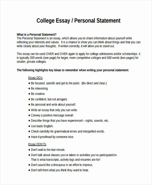 Personal Narratives Examples College Best Of 29 Examples Of College Essays
