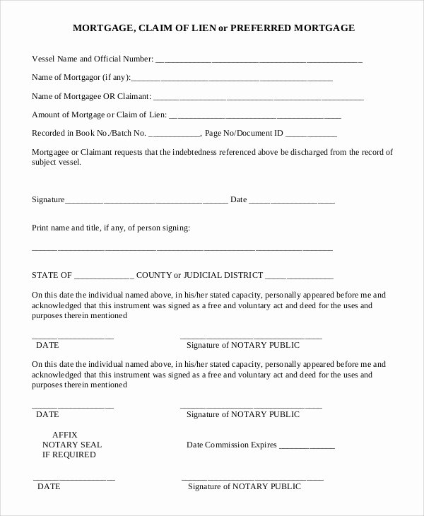 Personal Property Release form Template Best Of Sample Medical Lien