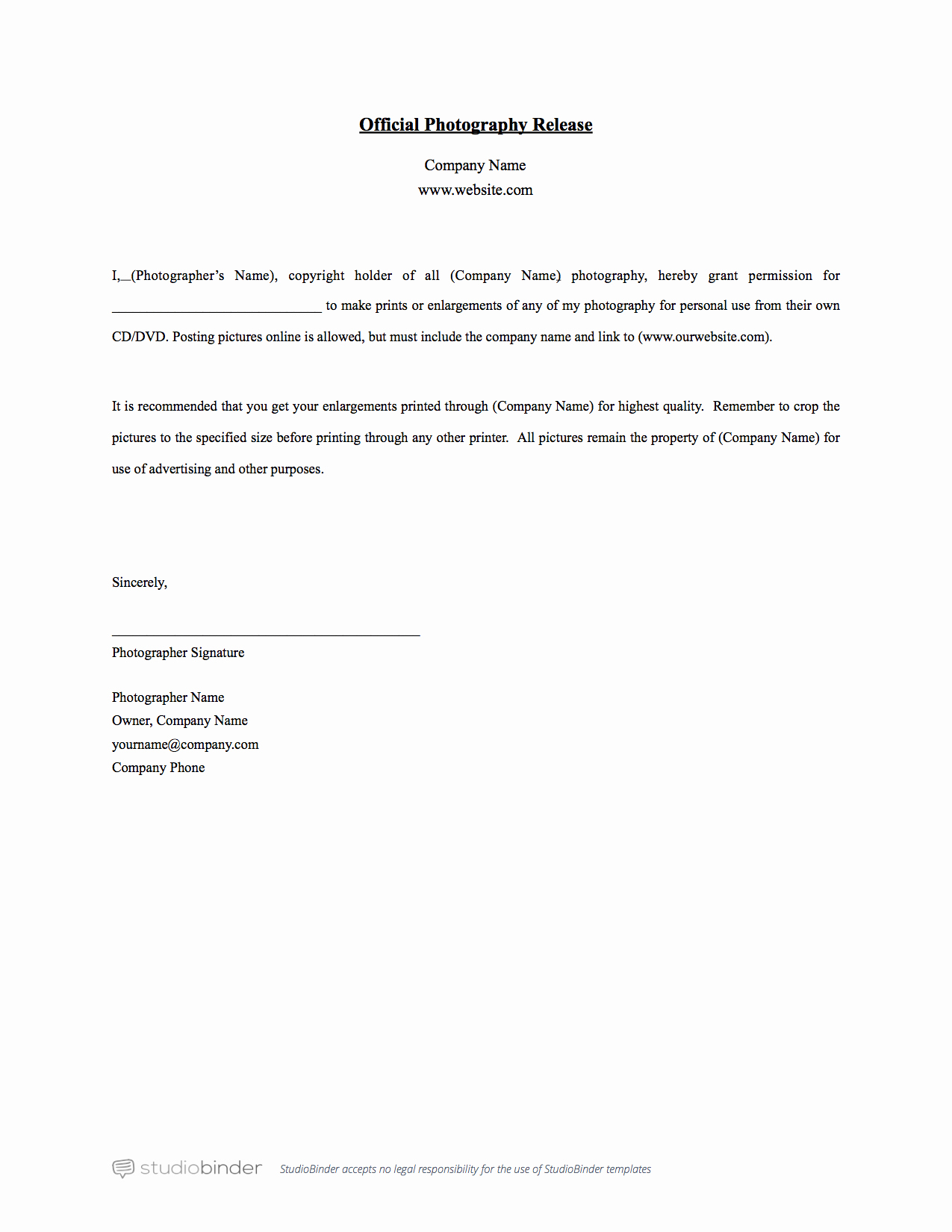 Personal Property Release form Template Fresh why You Should Have A Release form Template