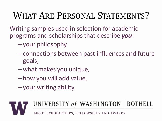 Personal Statement About Yourself Example Beautiful Personal Statement Describing Yourself
