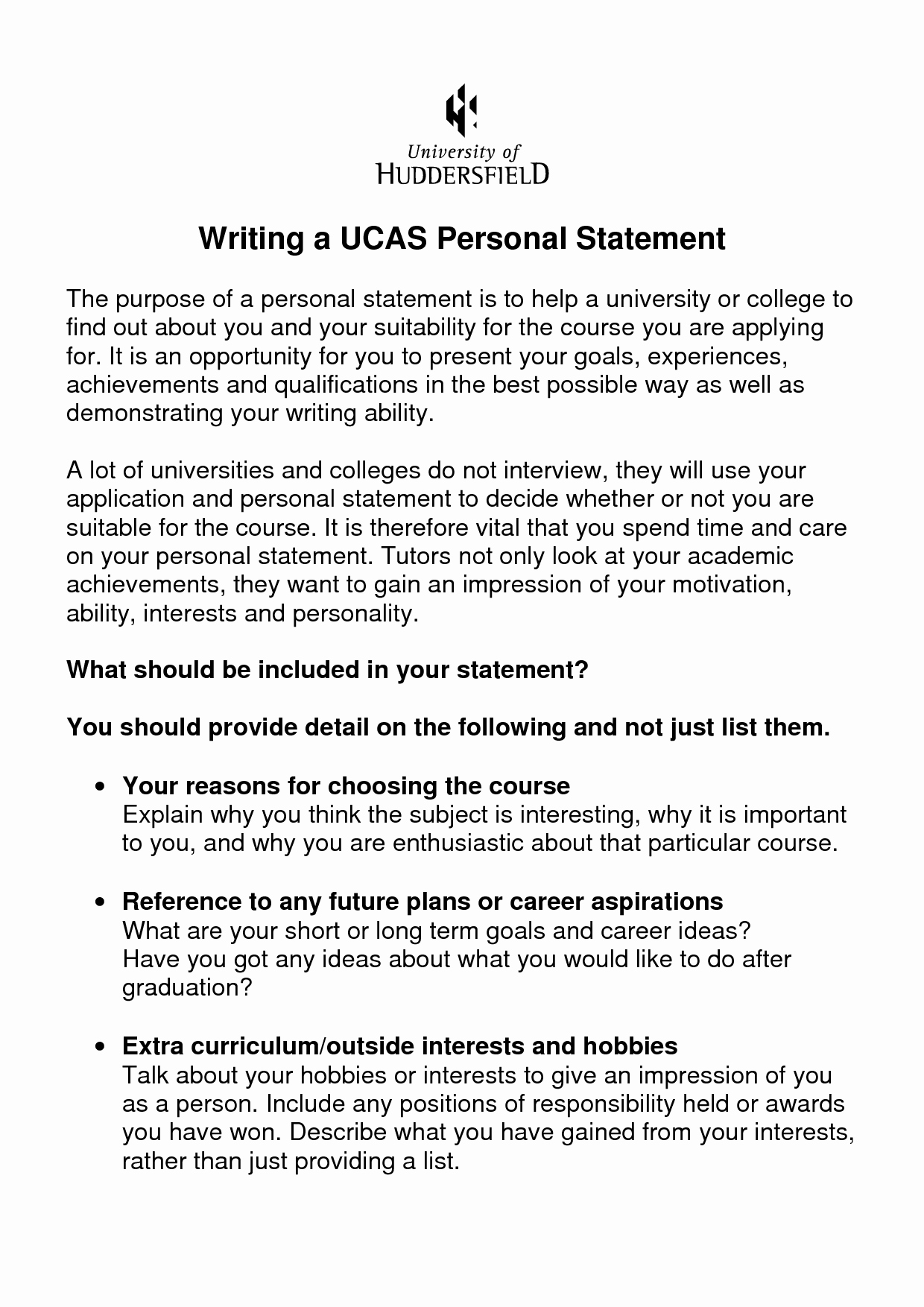 Personal Statement About Yourself Example Lovely Media Stu S Personal Statement Best Template Collection