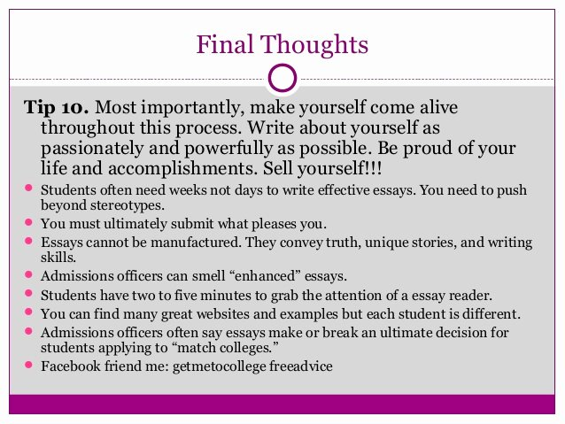 """Personal Statement About Yourself Example Lovely """"telling Your Story Ten Tips for Writing Powerful College"""