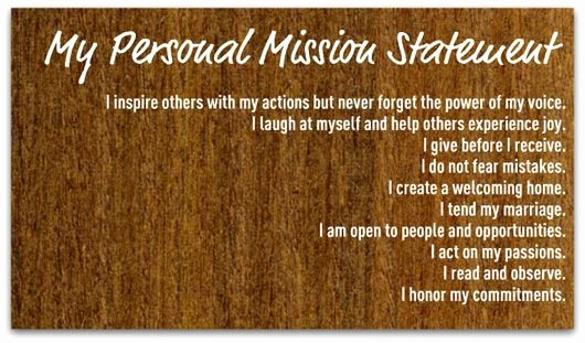 Personal Statement About Yourself Example New Create A Personal Mission Statement Your Step by Step Guide