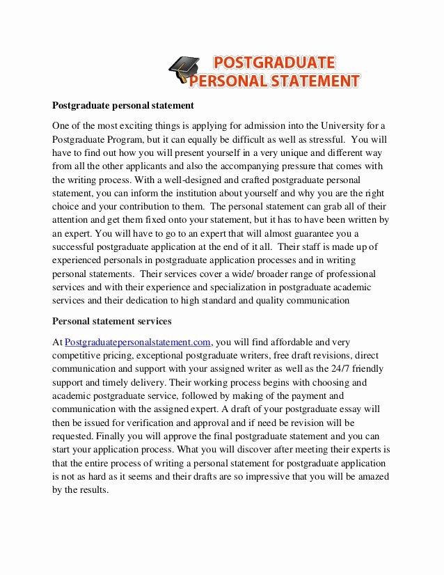 Personal Statement for Masters Degree Awesome Masters Degree Personal Statement Examples – Printable