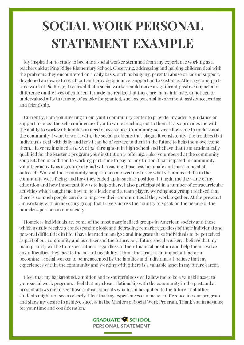 Personal Statement for Masters Degree Fresh Example From Graduate School Personal Statement Experts