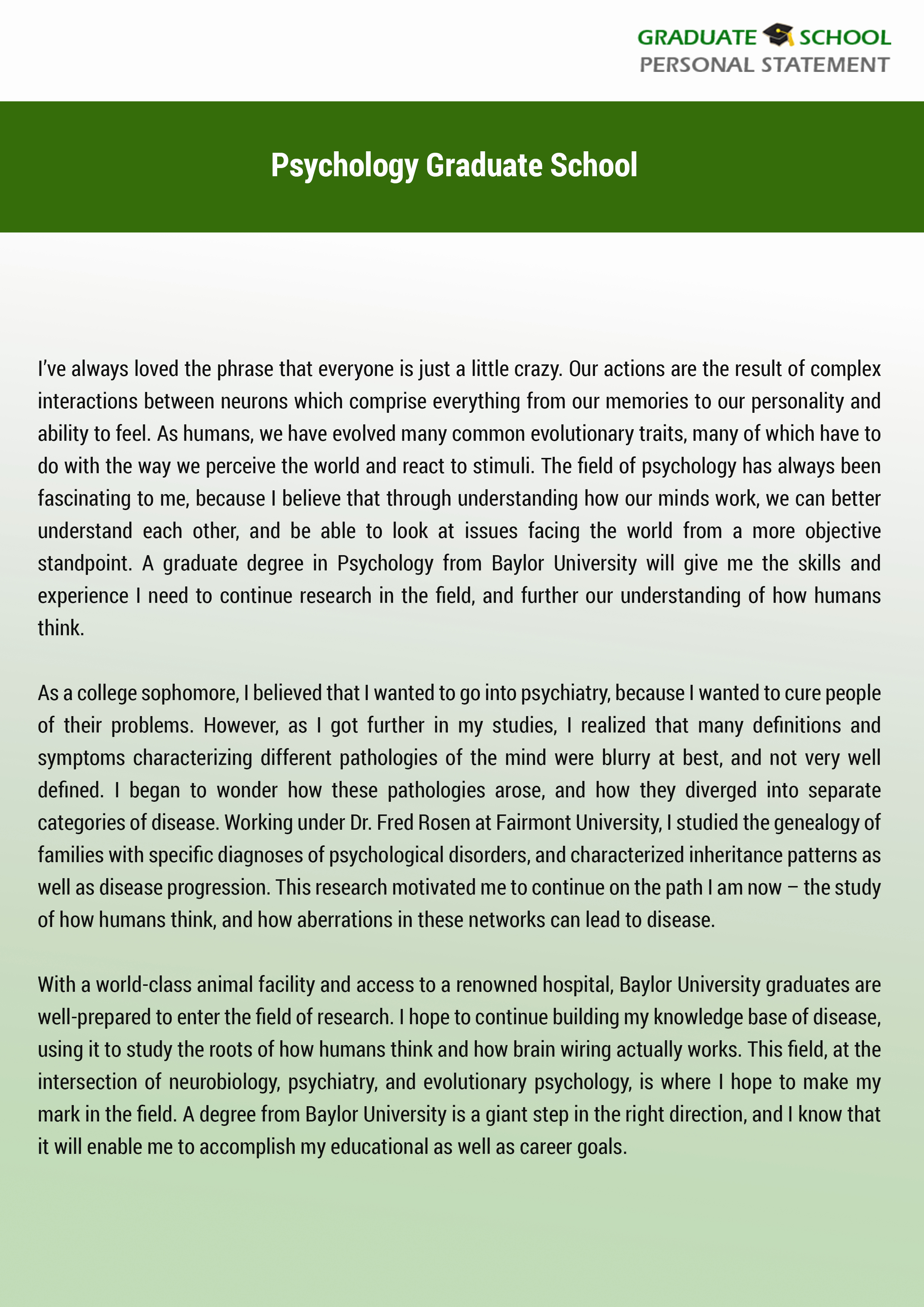 Personal Statement for Masters Degree Fresh Help with Personal Statement Psychology Graduate School