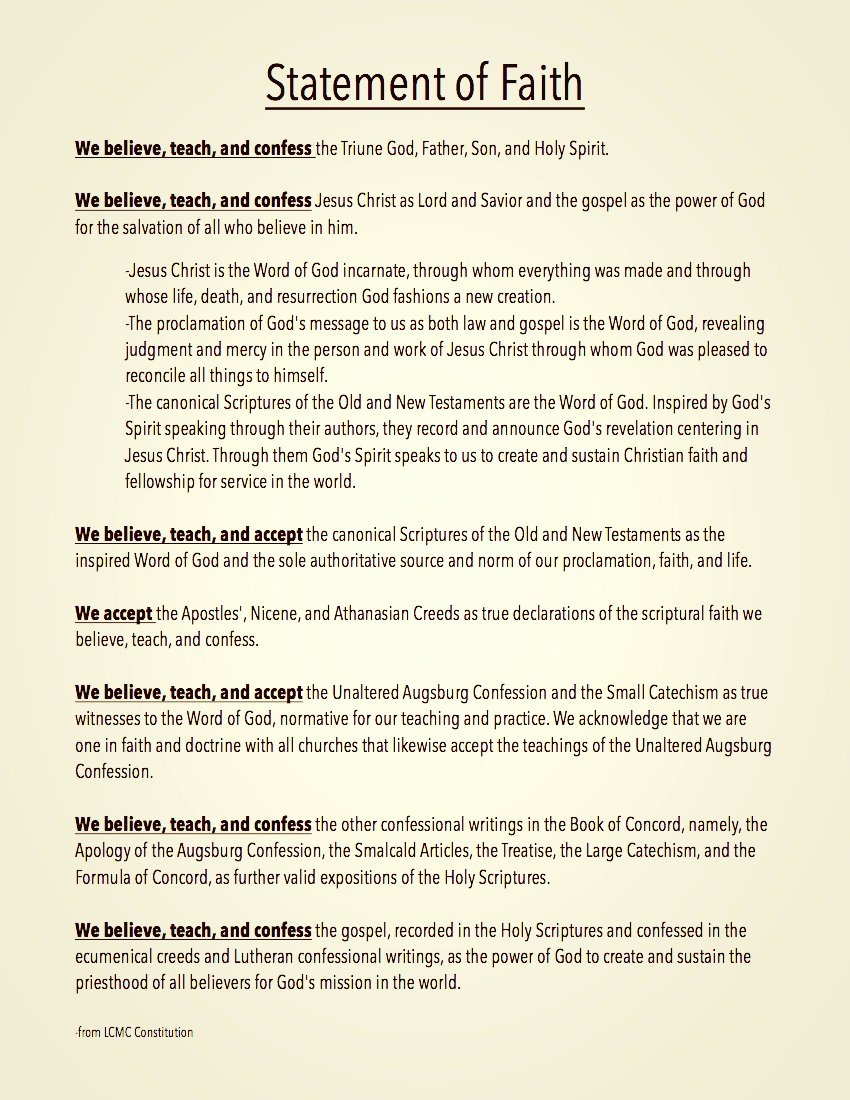 Personal Statement Of Faith Template Awesome New Page [newcreationperham]