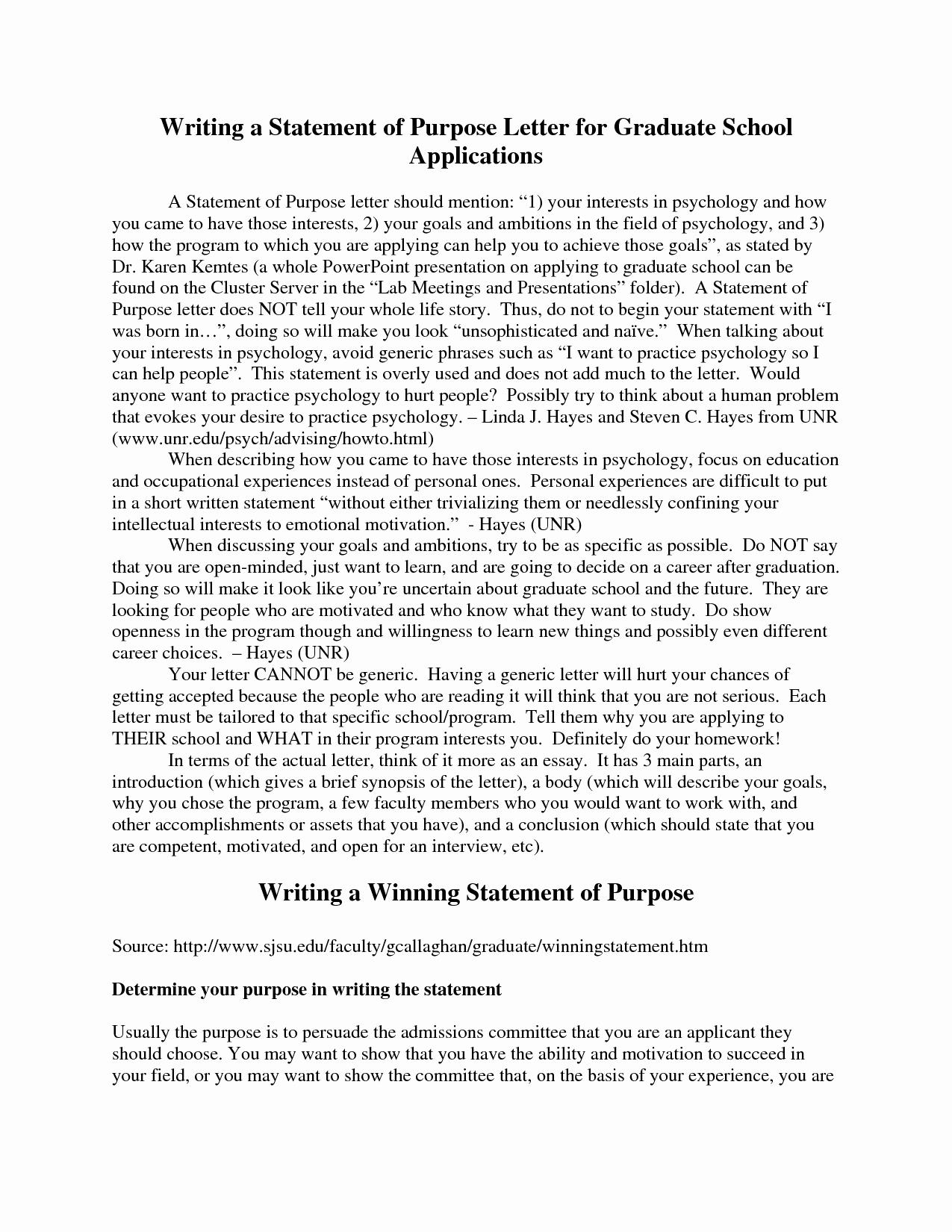 Personal Statement Of Intent Unique Graduate School Admission Essay Nurse Practitioner