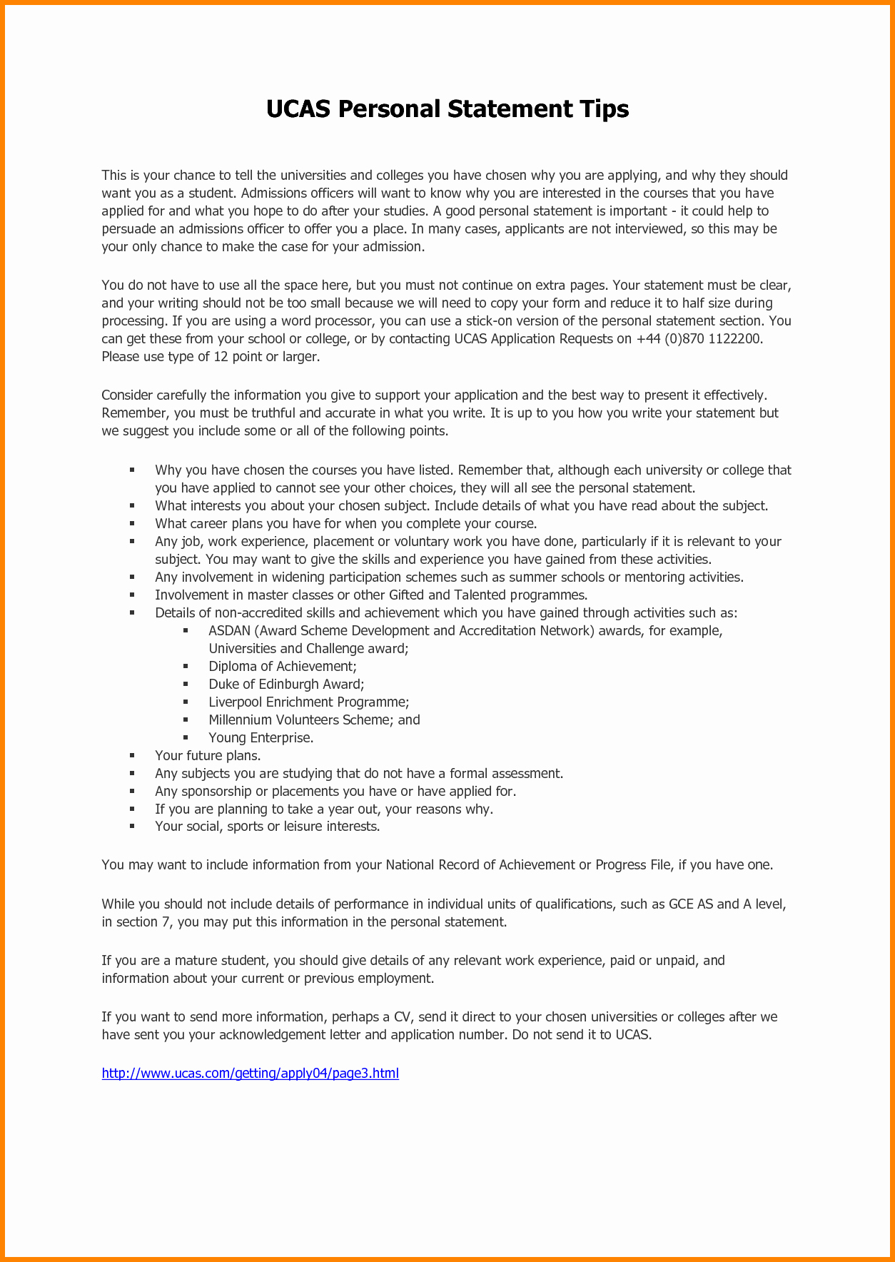 Personal Statement Template for College Awesome 8 Sample Of Personal Statement for University