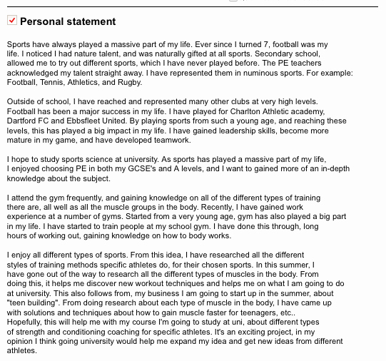 Personal Statement Template for College Awesome Leigh Post 16 Progression & Ucas Resources September 2013
