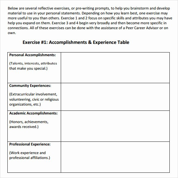 Personal Statement Template for College Beautiful Sample Personal Statement 9 Documents In Word Pdf