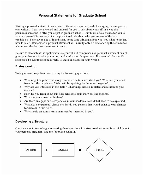 Personal Statement Template for College Best Of 7 Personal Statement for Medical School Samples