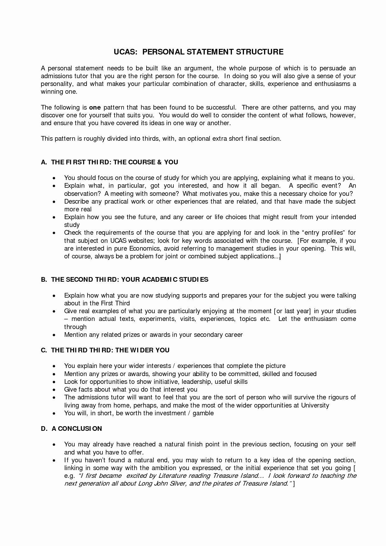Personal Statement Template for College New Personal Statement Template Ucas Google Search