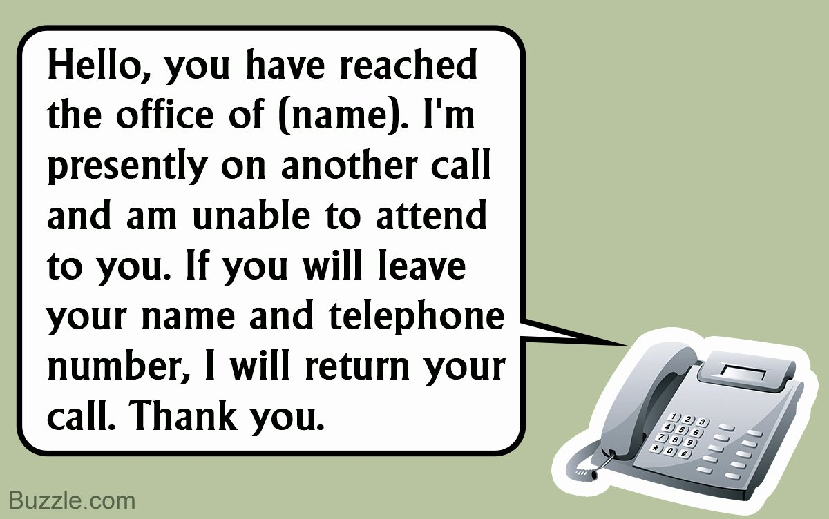 Personal Voicemail Messages Examples Awesome Interesting Voicemail Greeting Examples to Cheer Up Your
