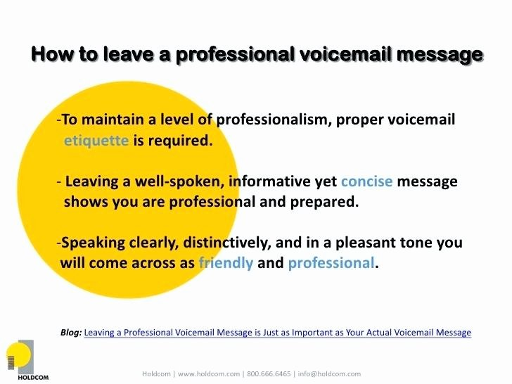 Personal Voicemail Messages Examples Elegant Proper Business Voicemail Greeting – Rightarrow Template