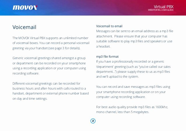 Personal Voicemail Messages Examples Inspirational Movox Web Portal User Guide