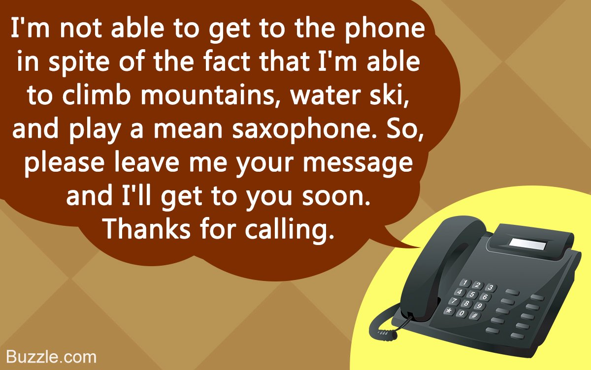 Personal Voicemail Messages Examples New Interesting Voicemail Greeting Examples to Cheer Up Your