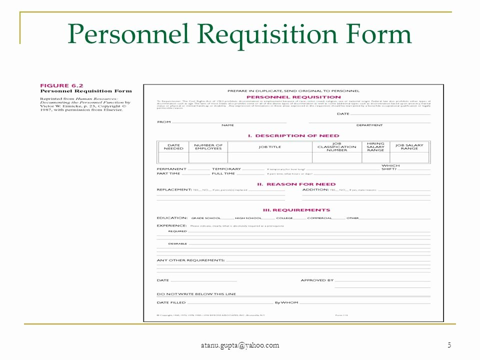 Personnel Requisition form Sample Beautiful Human Resource Management Course No Mba 609 Part 4 Recruitment