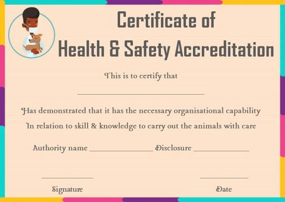 Pet Health Certificate Template Elegant Pet Health Certificate Template 9 Word Templates to
