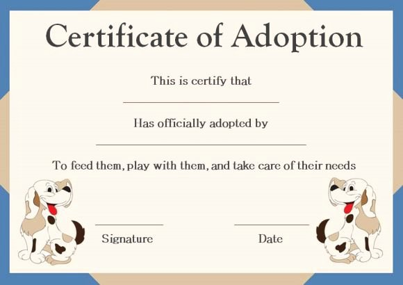 Pet Health Certificate Template Fresh Pet Adoption Certificate Template 10 Creative and Fun