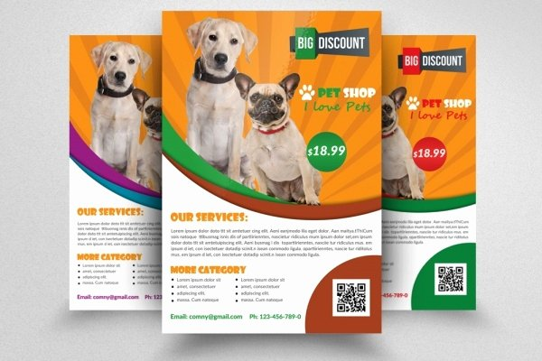 Pet Sitting Flyer Template Awesome 21 Pet Brochure Templates Psd Vector Eps Jpg Download