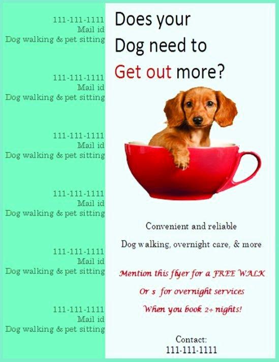 Pet Sitting Flyer Template Best Of Dog Walking Flyer Certificate Templates
