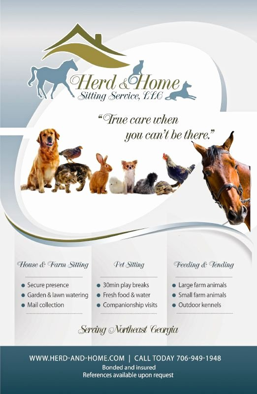 Pet Sitting Flyer Template Best Of Flyer Design for Local Pet Sitting Pany Pet Services