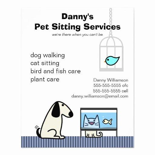 Pet Sitting Flyer Template Elegant Pet Sitter S Dog Cat & Aquarium Flyer