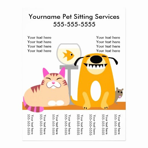 Pet Sitting Flyer Template Elegant Pet Sitter S Flyer with Tags Dog Cat Fish Mouse