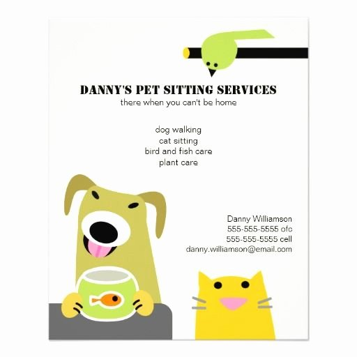 Pet Sitting Flyer Template Free Awesome Pet Sitting Business Flyer
