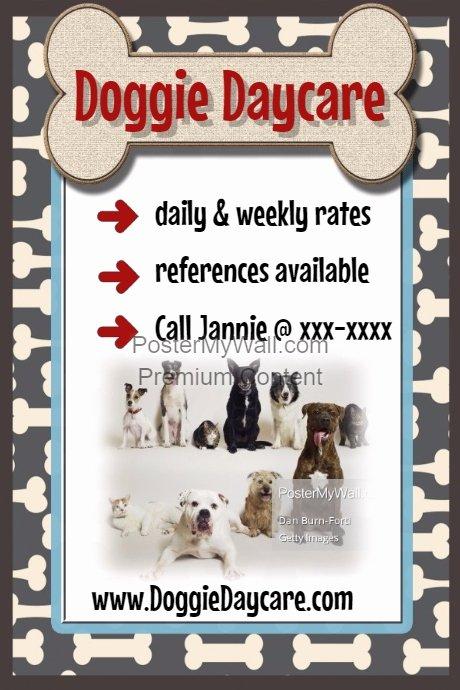 Pet Sitting Flyer Template Free Best Of Dog Bone Daycare Pet Sitter Walker Poster Flyer