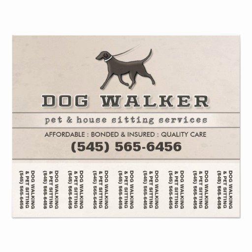 Pet Sitting Flyer Template Free Elegant Dog Walker & Pet Sitting Tear F Flyer 5 6 X 4 5