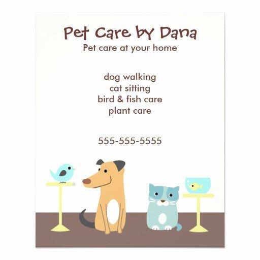Pet Sitting Flyer Template Free Elegant Pet Sitter S Advertising Custom Flyer