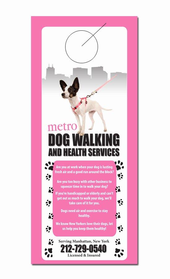 Pet Sitting Flyer Template Free Fresh Pet Service Door Hanger Samples