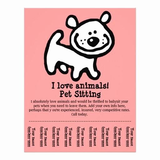 Pet Sitting Flyer Template Free Fresh Pet Sitting Dog Grooming Walking Training Flyer