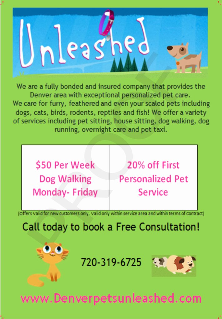 Pet Sitting Flyer Template Free Fresh Post It Note Printing Sticky Flyer Advertising